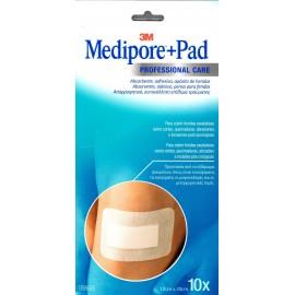 3M MEDIPORE+ PAD APOSITO ESTERIL 10 X 20 CM 10 A