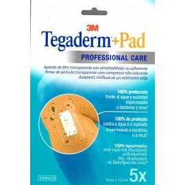 TEGADERM + PAD 9 X15 CM 5 U