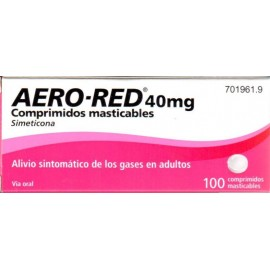 AERO RED 40 MG 100 COMPRIMIDOS MASTICABLES