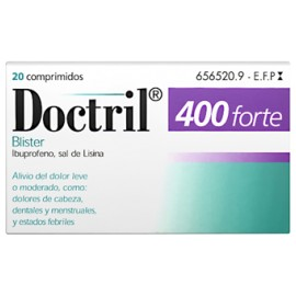 DOCTRIL FORTE 400 MG 20 COMPRIMIDOS RECUBIERTOS