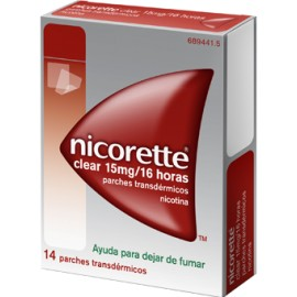 NICORETTE CLEAR 15 MG/16 H 14 PARCHES TRANSDERMI