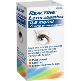 REACTINE 0.5 MG/ML COLIRIO 4 ML