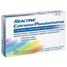 REACTINE 5/120 MG 14 COMPRIMIDOS