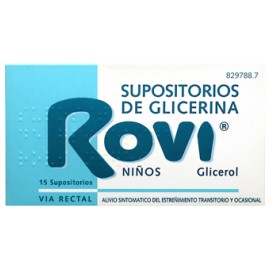 ROVI SUPOSITORIOS GLICERINA ROVI INFANTIL 1.44 G