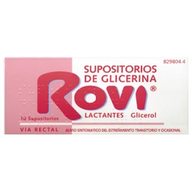 ROVI SUPOSITORIOS GLICERINA ROVI LACTANTES 10 SU