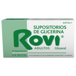 ROVI SUPOSITORIOS GLICERINA ADULTOS 3.36 G 12 SU