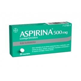 ASPIRINA 500 MG 20 COMP