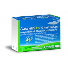 CLARITYNE PLUS 10/240 MG 7 COMPRIMIDOS LIBERACIO
