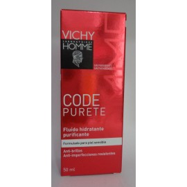 VICHY HOMME CODE PURETE FLUIDO HIDRATANTE PURIFICANTE 50 ML