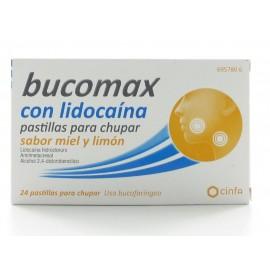 BUCOMAX LIDOCAINA 24 PASTILLAS PARA CHUPAR LIMON