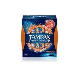 TAMPAX COMPAK PEARL SUPER PLUS 18 U