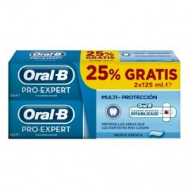 ORAL B PRO EXPERT MULTI PROTECCION PASTA DENTAL PACK 125 ML 2 U