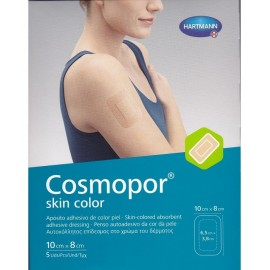 COSMOPOR SKIN COLOR APOSITO ESTERIL 10 CM X 8 CM  5 APOSITOS