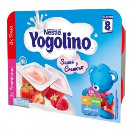 NESTLE IOGOLINO SUAVE Y CREMOSO 100 G 3 TARRINAS FRESA 3 FRAMBUESA