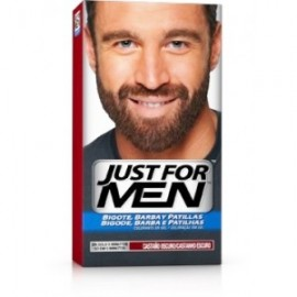 JUST FOR MEN BARBA, BIGOTE Y PATILLAS. CASTAÑO OSCURO 30 ML